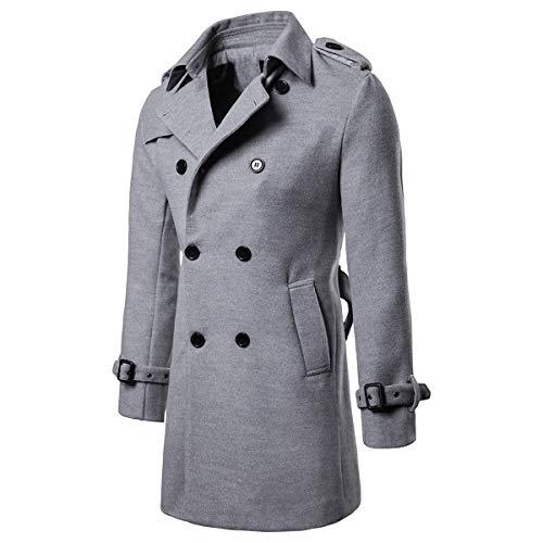 Herbst Winter Männer England Stil Mode Lange Trenchcoat Woolen Mantel Mann Lässig Lange Jacke Mit Pelz Kragen Slim Fit Mantel Starke Verpackung Jacken & Mäntel Herrenbekleidung & Zubehör