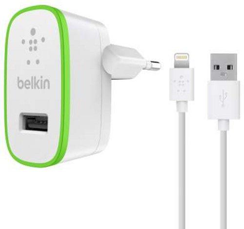Belkin BoostUp USB-Ladegerät Netzladegerät (inkl. 1,2m Lightning Kabel, 2.4A, 12 Watt, geeignet für iPhone 5/5c/5s, iPhone 6/6s/6 Plus/6s Plus, iPhone 7/7 Plus, iPhone SE, iPad Air 2, iPad Pro) weiß