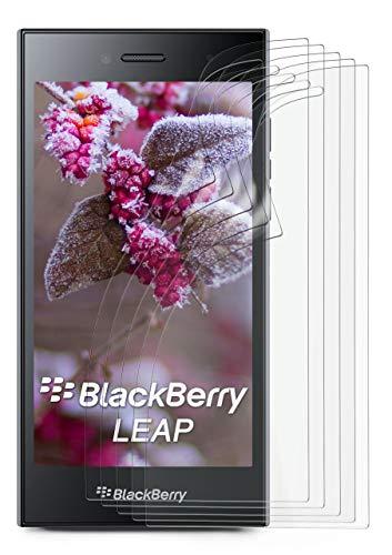 5X BlackBerry Leap | Schutzfolie Matt Bildschirm Schutz [Anti-Reflex] Screen Protector Fingerprint Handy-Folie Matte Bildschirmschutz-Folie für BlackBerry Leap Bildschirmfolie