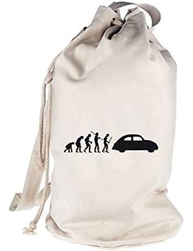 Shirtstreet24, EVOLUTION KULT AUTO, bedruckter Seesack Umhängetasche Schultertasche Beutel Bag