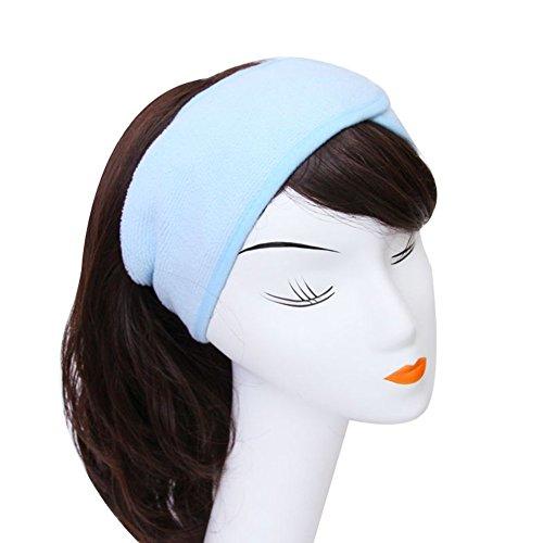 Westeng Femmes Bandeau de Cheveux en coton Bandeau Serre-tête pour Soin Visage Maquillage Bain Douche /2 Couleurs sélectionnables