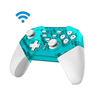 JFUNE Wireless Switch Controller für Nintendo Switch Lite, Switch Pro Controller Bluetooth Gamepad mit Doppelmotor Axis Gyro Turbo Kompatibel mit Nintendo Switch 9.0 /PC (Grün)