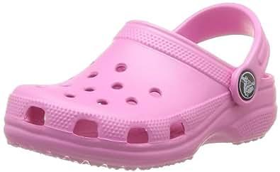 Crocs Classic Kids, Unisex-Kinder Clogs, Pink (Party Pink), 26 EU