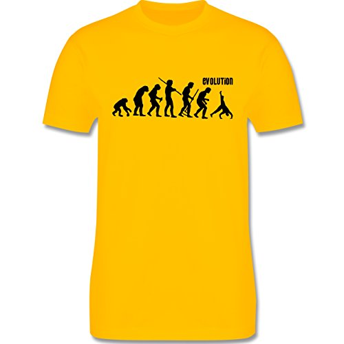 Evolution - Turnen Evolution - Herren Premium T-Shirt Gelb