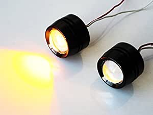 Clignotant Projecteur LED Universel Moto Flux / Carénage / Plaque Immatriculation Montage Aluminium