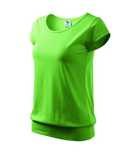 100 Baumwolle Damen T-shirt (T-Shirt Ladies City Damenshirt 100% Baumwolle - Größe und Farbe wählbar- (S, erbsengrün))