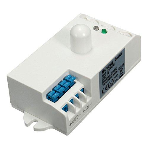 MASUNN Sk-807-Dc DC 12V-24V 5.8 GHz Microondas Sensor De Radar De Movimiento del Cuerpo del Detector De Hf Interruptor De Luz