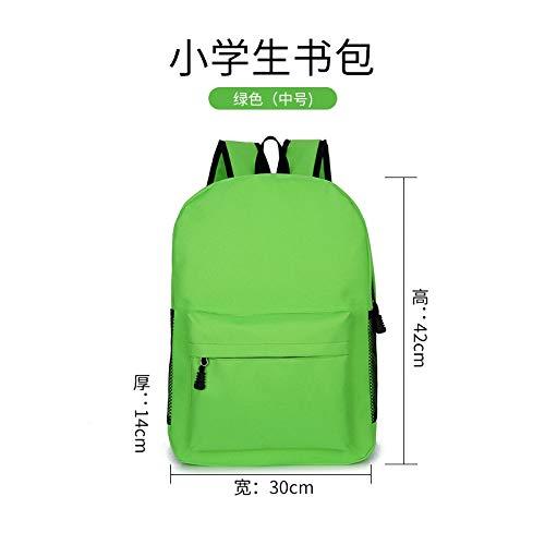 Mochila Escolar,Gran Capacidad Simple Casual Mochila Verde Adecuado para Niños Estudiante Chico...