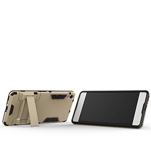 Xperia X Compact Hülle,EVERGREENBUYING Abnehmbare Hybrid Schein F5321 Tasche Ultra-dünne Schutzhülle Case Cover mit Ständer Etui für Sony Xperia X Compact Rot Gold