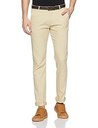 Arrow Sports Men's Straight Fit Cotton Casual Trousers (ASVTR2451_30W x 34L_Beige)