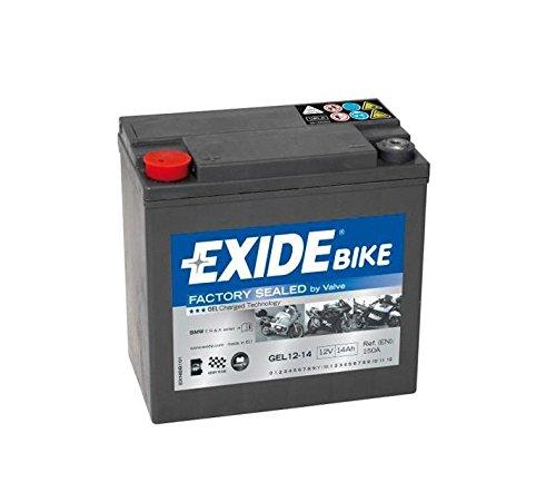 Exide Bike Batterie GEL12–14–12Volt–14Ah–150A–150mm * 87mm * 145mm–M06Pol weiblich