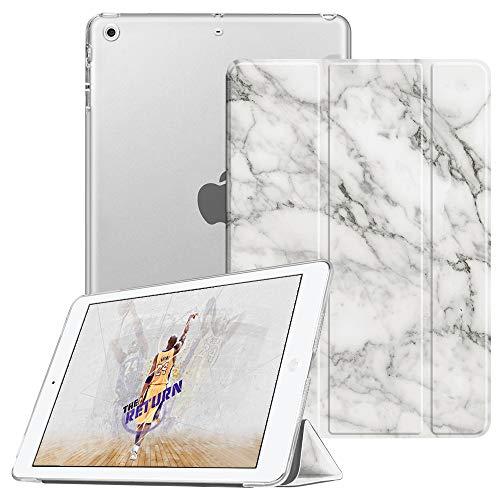 lle - Ultradünne Superleicht Schutzhülle mit transparenter Rückseite Abdeckung Cover mit Auto Schlaf/Wach Funktion für Apple iPad Mini/iPad Mini 2 / iPad Mini 3, Marmor Weiß ()