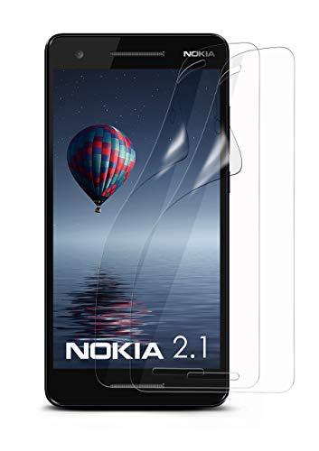 moex 2X Nokia 2.1 | Schutzfolie Klar Bildschirm Schutz [Crystal-Clear] Screen Protector Display Handy-Folie Dünn Bildschirmschutz-Folie für Nokia 2.1 Bildschirmfolie