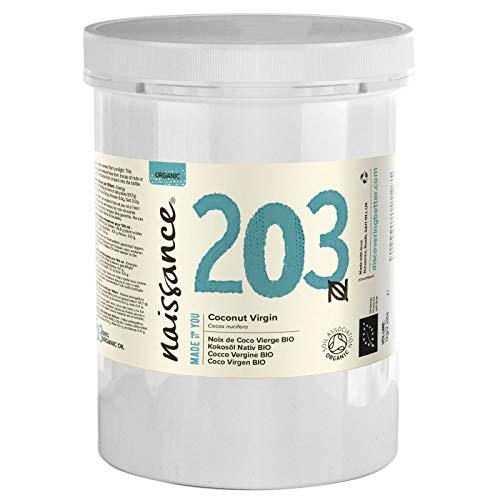Naissance Coco Virgen BIO Sólido - Aceite Vegetal Prensado en Frío 100% Puro - Certificado Ecológico - 1000g