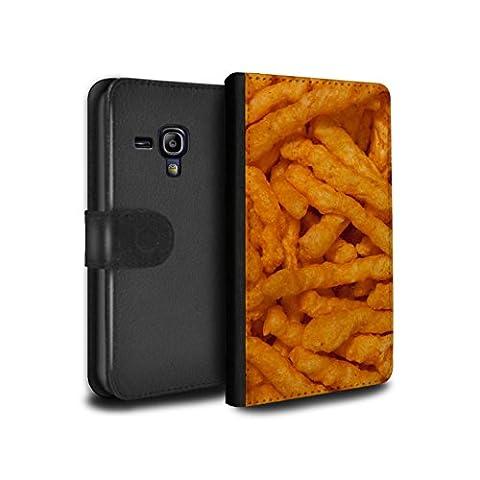 STUFF4 PU-Leder Hülle/Case/Tasche/Cover für Samsung Galaxy S3 Mini / Nick Nacks Muster / Imbiss