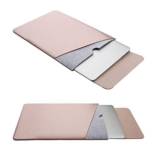 RUISIKIOU Filz Sleeve Hülle für MacBook Air 13 Zoll/MacBook Pro 13.3 Zoll', Filz Sleeve Hülle Ultrabook Laptop Tasche mit Geschutztes Inneres & Externes Mousepad, Rose Gold
