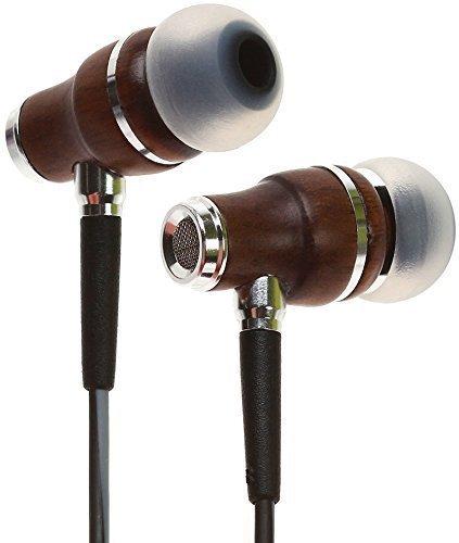 Auriculares Symphonized NRG 3.0 | Auriculares de Madera con Aislamiento de Ruido con micrófono y Control de Volumen (Negro y Gris Brumoso)