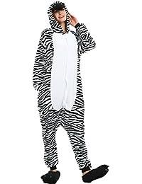 Süßes Einhorn Overalls Jumpsuits Pyjama Fleece Nachtwäsche Schlaflosigkeit Halloween Weihnachten Karneval Party Cosplay Kostüme für Unisex Kinder und Erwachsene