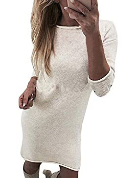 SHOBDW Sudadera para Mujer Cuello Redondo Suéter Rebeca Elegante Camisa Larga Casual Pullove Jersey Jumper Moda...