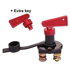 12V universale interruttore Maso batteria Isolator Disconnect Cut off Heavy Duty Power Kill chiave per auto, barca, camper, camion