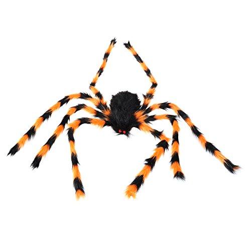 LUOEM Plüsch Spinne Riesen Spinne Scary Spooky Spinne Plüschtier Halloween Party Scary Dekoration Haunted House (Riesen Spinne Dekoration)