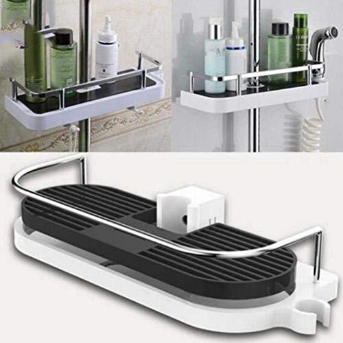 ASDWSX Praktische Bad Pol Dusche Storage Rack Halter Waschen Dusche Lagerung Shampoo Caddy Rack Veranstalter Tray Halter (Pol Dusche Edelstahl Caddy)