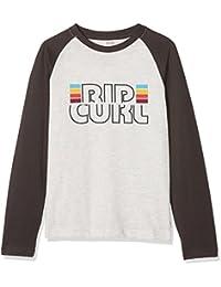 RIP CURL Raglan Big Mama–niños de Manga Larga T-Shirt, Infantil, KTEMD4, White Marle, 8