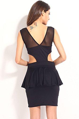 Dissa® femme Noir SY21053 robe de cocktail Noir