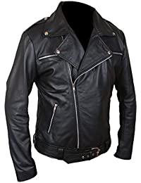 F&H Men's The Walking Dead Negan Genuine Leather Jacket