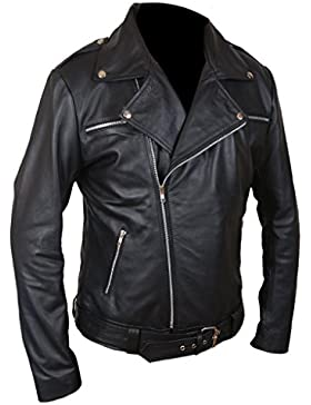 F&H Men's The Walking Dead Negan Genuine Leather Jacket