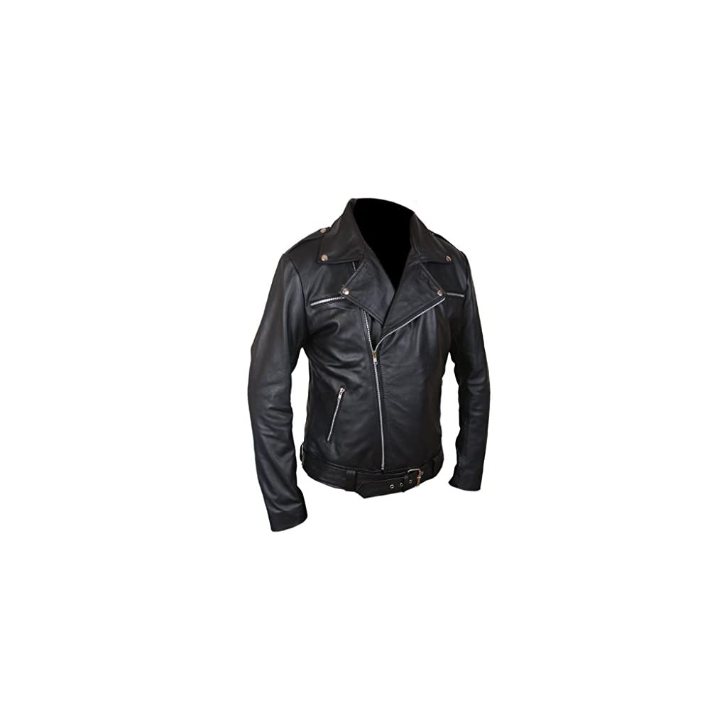 amp;h Dead Walking The Leather Jacket Genuine Men's Negan F sxdCthQr