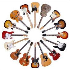 classic-guitars-round-wooden-coaster