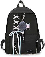 2019 Fashion BTS Backpack School Bags for Teenage Girls Travel Shoulder Backpack Bags Canvas Print BTS Rucksac