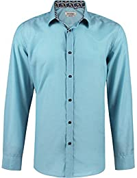 Camisa slim fit para hombre con manga larga