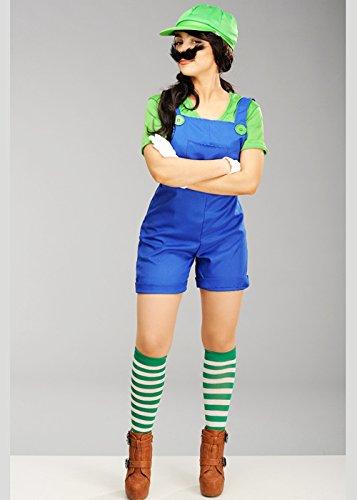 -Super-Mario-Style Luigi Klempner Kostüm XL (UK 14-16) ()