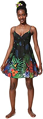 Desigual Dress wimwear IA Woman Black Vestido, (Negro 2000), X para ujer
