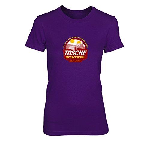 Solo Han Kostüm Endor - Tosche Station - Damen T-Shirt, Größe: XL, Farbe: lila