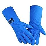 Anti-Flüssig-Stickstoff-Handschuhe, Tieftemperaturbeständigkeitstest LNG-Frostschutzmittel Kältespeicher Kälteschutz Warm antistatisch lange dicke Schutzhandschuhe (größe : 45 cm long)