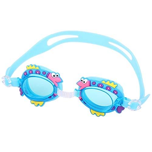 Occhialini Da Nuoto Tracolla Per Bambini Anti-Fog Regolabile Con Facile Da Pulire Protezione Per Gli Occhi Riutilizzabile Resistente Pratica Perfetta Per Bambini E Adolescenti Lago Blue Fish