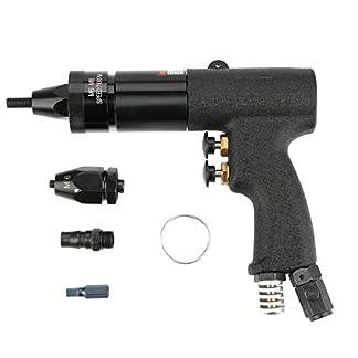Akozon Remachadoras Neumática Automática Pistola de Remache Nuez de Tracción 700rpm(M6/M8,KP-739A)
