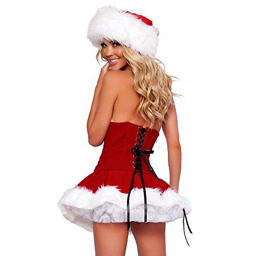 LoveStory Weihnachtsmann Damen Kostüm Sexy Nikolaus Miss Santa -