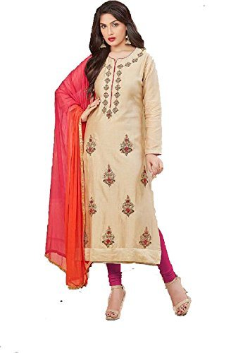 Women's Muslin Silk / Glace Cotton Unstitched 3 Piece Suit / Salwar...