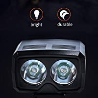Beesuya Bicycle Headlight,Super Bright USB Rechargeable Bike Light, Bike Tail Light Helmet Light, Waterproof Bicycle Headlight and Taillight, Easy to Mount Fits for Mountain Road Kids Bikes benefit