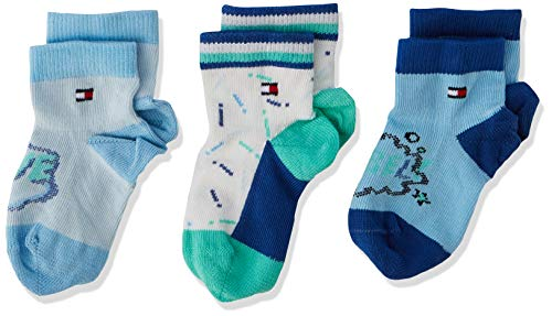 Tommy Hilfiger Unisex TH Baby Rebel GIFTBOX 3P Socken, Mehrfarbig (Blue Combo 168), 19-22 (erPack 3) (Tommy Baby Socken Hilfiger)