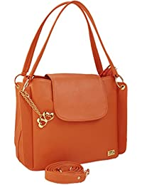 I Define You Latest Trend Orange Color Party Wear Handbag & Sling Bag For Girls And Women's