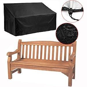 Silvotek 2-Sitzer schutzhülle für Bank – Wasserdicht gartenbank Abdeckung mit langlebigem 210D Oxford Material+ PVC…