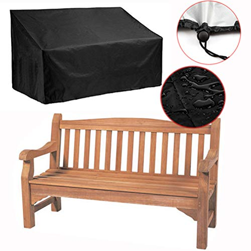 Silvotek 4-Sitzer schutzhülle für Bank – Wasserdicht gartenbank Abdeckung mit langlebigem 210D Oxford Material+ PVC-Beschichtung,- schutzhülle gartenbank abdeckhaube gartenbank -...