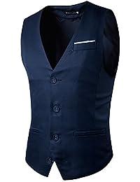 YCHENG Clásico Waistcoat Chaleco para Hombre Blazers Sin Mangas de Boda Casual Slim Fit