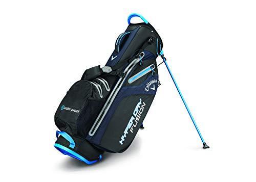Callaway 2019 Hyper Dry Fusion Standbag Golf, Unisex, 5119075, Black/Royal Blue/Silver, Einheitsgröße