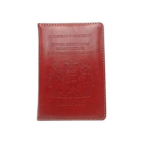 Boocy - Funda de pasaporte  Rojo Red